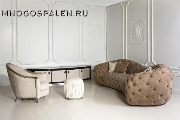 Диван Divano GM 01 с подушками купить в салоне-студии мебели Барселона mnogospalen.ru много спален мебель Италии классические современные