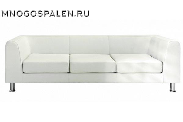 Дизайнерский диван Eva 3-местный бежевая кожа купить в салоне-студии мебели Барселона mnogospalen.ru много спален мебель Италии классические современные