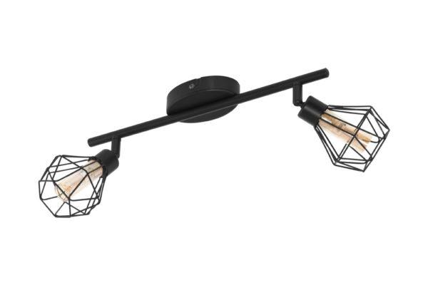 32766 Светод. спот ZAPATA 1, 2X3W(G9-LED), сталь, черный/стекло, янтарный купить в салоне-студии мебели Барселона mnogospalen.ru много спален мебель Италии классические современные