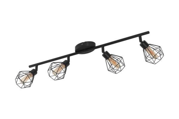 32767 Светод. спот ZAPATA 1, 4X3W(G9-LED), сталь, черный/стекло, янтарный купить в салоне-студии мебели Барселона mnogospalen.ru много спален мебель Италии классические современные