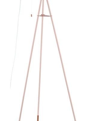 49039 Торшер СHESTER-P на треноге, 1x60W (E27), L600, B600, H1355, сталь, пастель абрикоc, медь купить в салоне-студии мебели Барселона mnogospalen.ru много спален мебель Италии классические современные